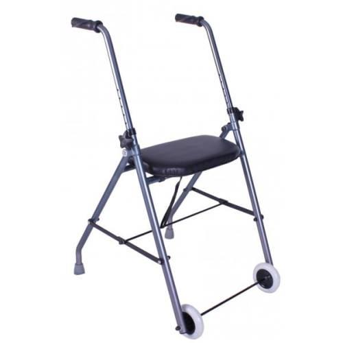 Podpórka Rehabilitacyjna 2 Kołowa Z ławką Balkonik Dla Osób Niepełnosprawnych